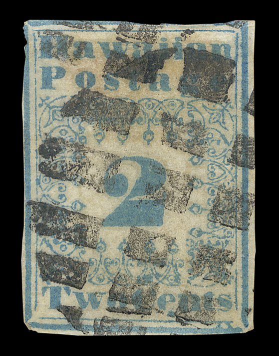 Hawaii: 1851-52 2 cents blue, type 2, used.